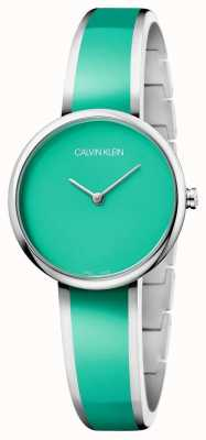 Calvin Klein | Womens Seduce | Stainless Steel Green Resin Bracelet | K4E2N11L
