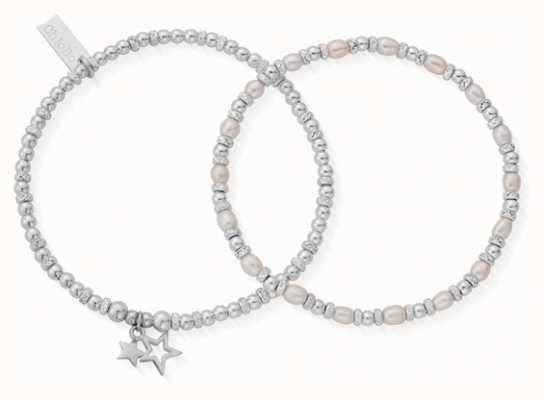 ChloBo   Life Long Magic   Pearl Bracelets   Set of 2   18cm   SBSETMAGIC18