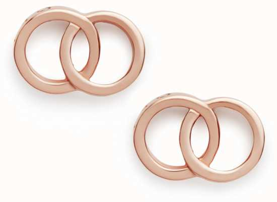 Olivia Burton | The Classics | Rose Gold | Interlink Earrings | OBJCOE72