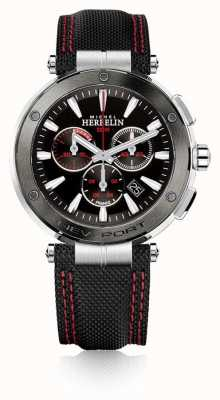 Michel Herbelin | Mens | Newport | Red And Black Chronograph | Nylon | 37688/AG44