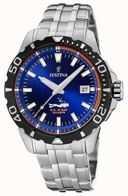 Festina | Mens Divers | Stainless Steel Bracelet | Blue Dial | F20461/1