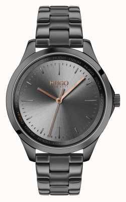 HUGO #Fearless | Grey IP Bracelet | Grey Dial 1540042