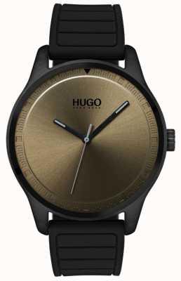 HUGO #move | Black Rubber Strap | Khaki Dial 1530041