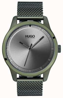 HUGO #move | Green IP Mesh Bracelet | Grey Dial 1530046