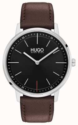HUGO #exist | Brown Leather Strap | Black Dial 1520014