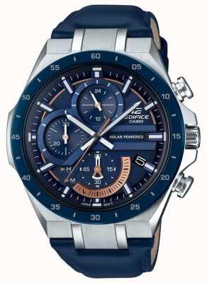 Casio | Edifice | Solar Powered | Chronograph | Blue Leather | EQS-920BL-2AVUEF