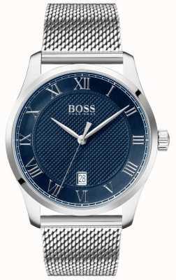 Boss | Men's Master | Stainless Steel Mesh Bracelet | Blue Dial | 1513737