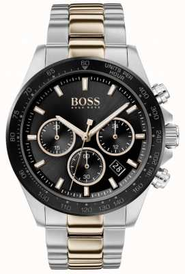 Boss | Men's | Hero Sport Lux | Two Tone Bracelet | Black Dial | 1513757