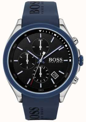Boss | Men's Velocity | Blue Rubber Strap | Black Dial | 1513717