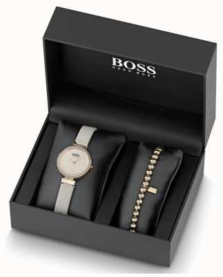 BOSS Celebration | Leather | Crystal Dial | Watch And Bracelet 1570094
