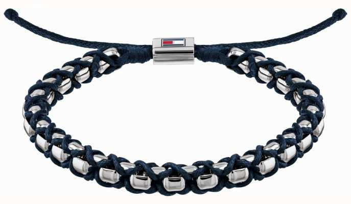 Tommy Hilfiger Stainless Steel Metal Braided Bracelet | Blue 2790162
