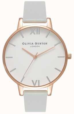 Olivia Burton Women's Vegan Friendly Big Dial Gold And Grey OB16BDV02