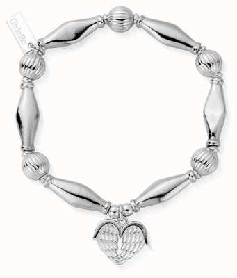 ChloBo | Sterling Silver 'Heavenly Heart' Bracelet | SBCHP921