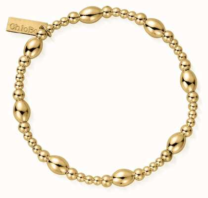 ChloBo | Sterling Silver Gold Plated 'Cute Oval' Bracelet | GBCOR