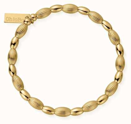 ChloBo   Sterling Silver Gold Plated 'Double Rice' Bracelet   GBCOD