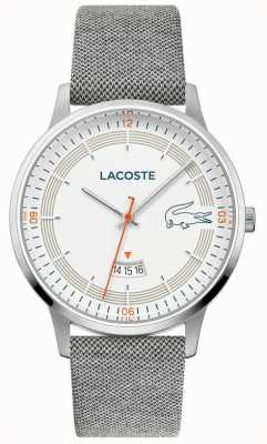 Lacoste | Men's Madrid | Grey Leather Strap | White Dial | 2011031