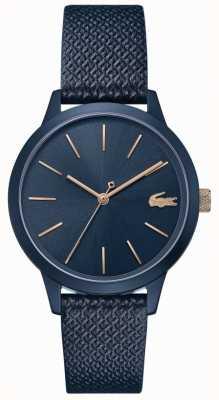 Lacoste   Women's 12.12   Blue Leather Strap   Blue Dial   2001091