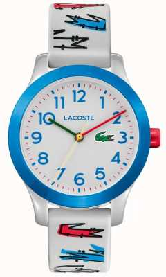 Lacoste | Kids 12.12 | White Rubber Printed Strap | White Dial | 2030021