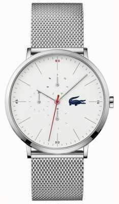 Lacoste | Men's Moon Multi | Stainless Mesh Bracelet | White Dial | 2011025