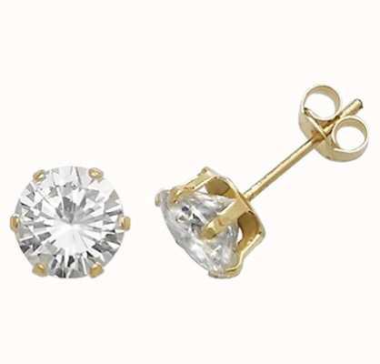Treasure House 9ct Gold Claw Set 6mm Cz Stud Earrings ES213