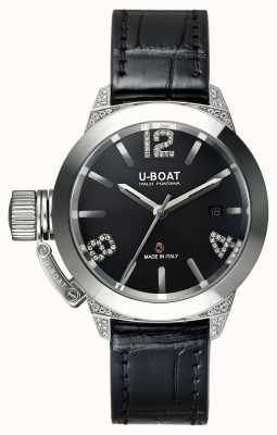 U-Boat Classico 40 Ss White Diamonds Alligator Strap 6950