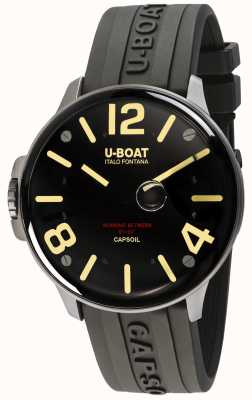 U-Boat Capsoil SS Electromechanics | Black Rubber Strap 8110/A