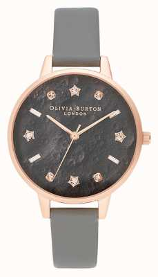 Olivia Burton | Celestial Star And Moon | Grey Dial | Vegan Grey Strap | OB16GD55