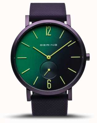 Bering | True Aurora | Purple Rubber Strap | Green/Purple Dial | 16940-999