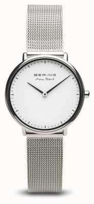 Bering   Max René   Women's Polished Silver   Steel Mesh Bracelet   15730-004