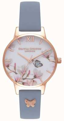 Olivia Burton | Womens | Pretty Blossom | Blue Leather Strap OB16ES08