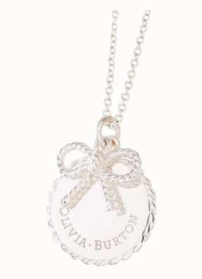 Olivia Burton | Womens | Vintage Bow Coin | Silver Necklace OBJ16VBN03