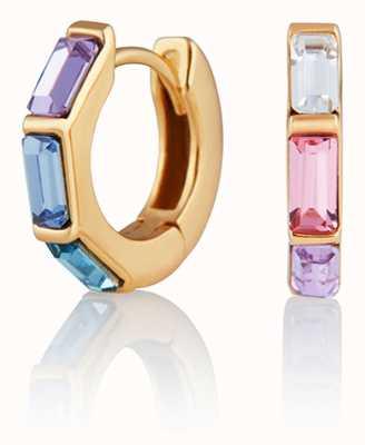 Olivia Burton | Rainbow | Huggie Hoop | Gold Earrings | OBJCOE59