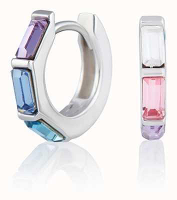 Olivia Burton | Rainbow | Huggie Hoop | Silver Earrings | OBJCOE61