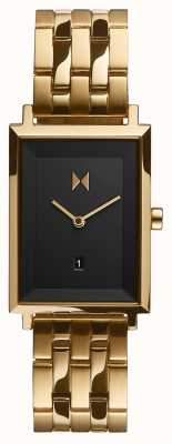 MVMT Signature Square | Gold Plated Bracelet | Black Dial| D-MF03-GGR