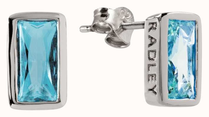 Radley Jewellery Radley Rocks | Silver Baguette Stone Stud Earrings | RYJ1115S