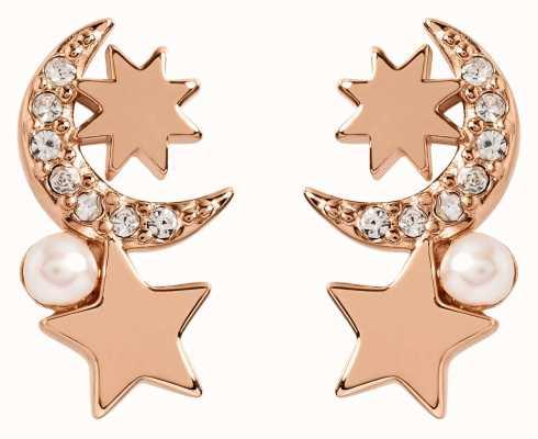 Radley Jewellery Star Gazing | Rose Gold Plated Pearl And Star Stud Earrings RYJ1106