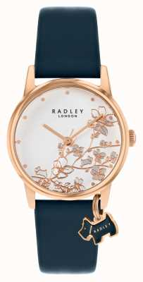 Radley Botanical Floral | Navy Leather Strap | Silver Floral Dial | RY2880