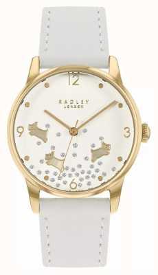 Radley Ditsy Dog Glitter | White Leather Strap | White Glitter Dial RY2892