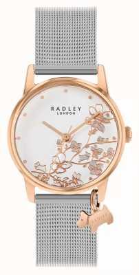 Radley Botanical Floral | Silver Mesh Bracelet | White Floral Dial RY4399