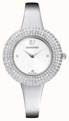 Swarovski   Crystal Rose   Stainless Steel Bracelet   White Dial   5483853
