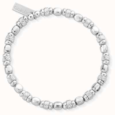ChloBo   Women's Twisted Cube Filler Bracelet   925 Sterling Silver SBTCUBE