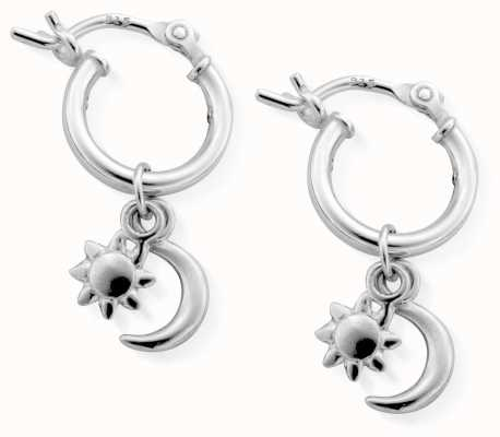 ChloBo | Women's Dainty Moon & Sun | Small Hoop Earrings | SEH582