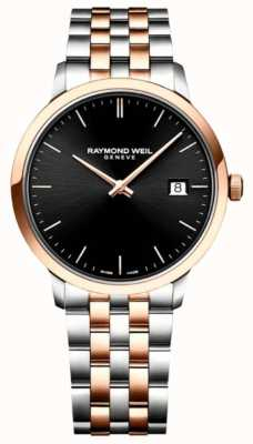 Raymond Weil | Men's Toccata | Two-Tone Stainless Steel | Black Dial | 5485-SP5-20001