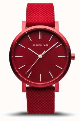 Bering | True Aurora | Red Rubber Strap | Red Dial | 16934-599