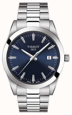 Tissot   Gentleman   Stainless Steel Bracelet   Blue Dial   T1274101104100