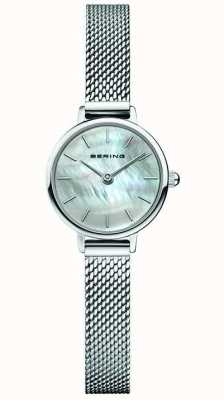 Bering | Women's Classic | Steel Mesh Bracelet | Mother Of Pearl 11022-004