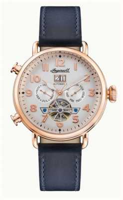 Ingersoll | The Muse Automatic | Navy Leather Strap | White Dial I09501