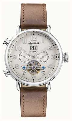 Ingersoll | The Muse Automatic | Brown Leather Strap | White Dial I09502B