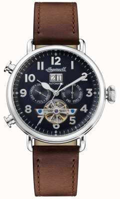 Ingersoll | The Muse Automatic | Brown Leather Strap | Blue Dial | I09503