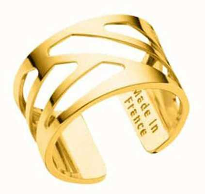 Les Georgettes 12mm Ruban Gold Plated Ring (58) 70296050100058